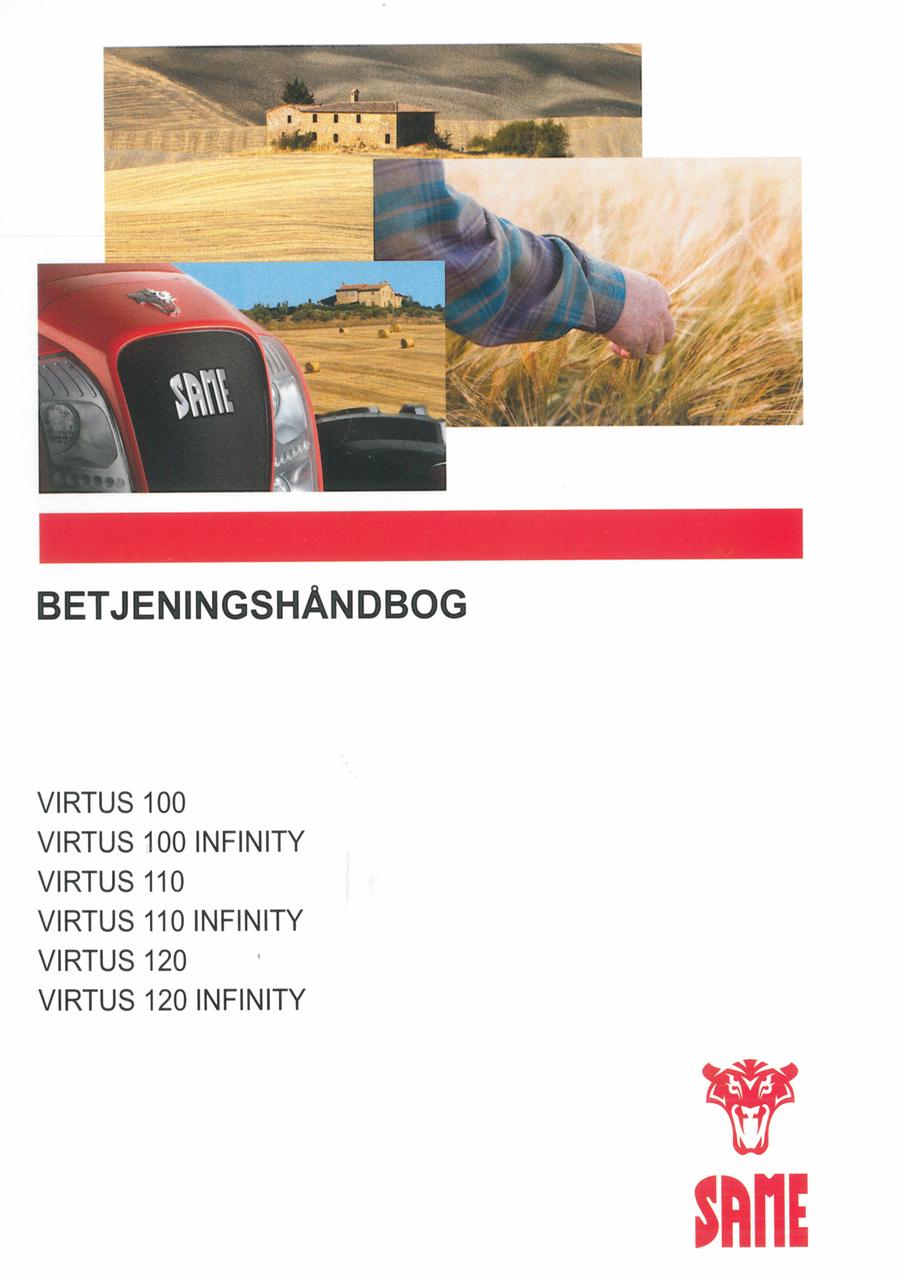 VIRTUS 100 - VIRTUS 100 INFINITY - VIRTUS 110 - VIRTUS 110 INFINITY - VIRTUS 120 - VIRTUS 120 INFINITY - Betjeningshandbog