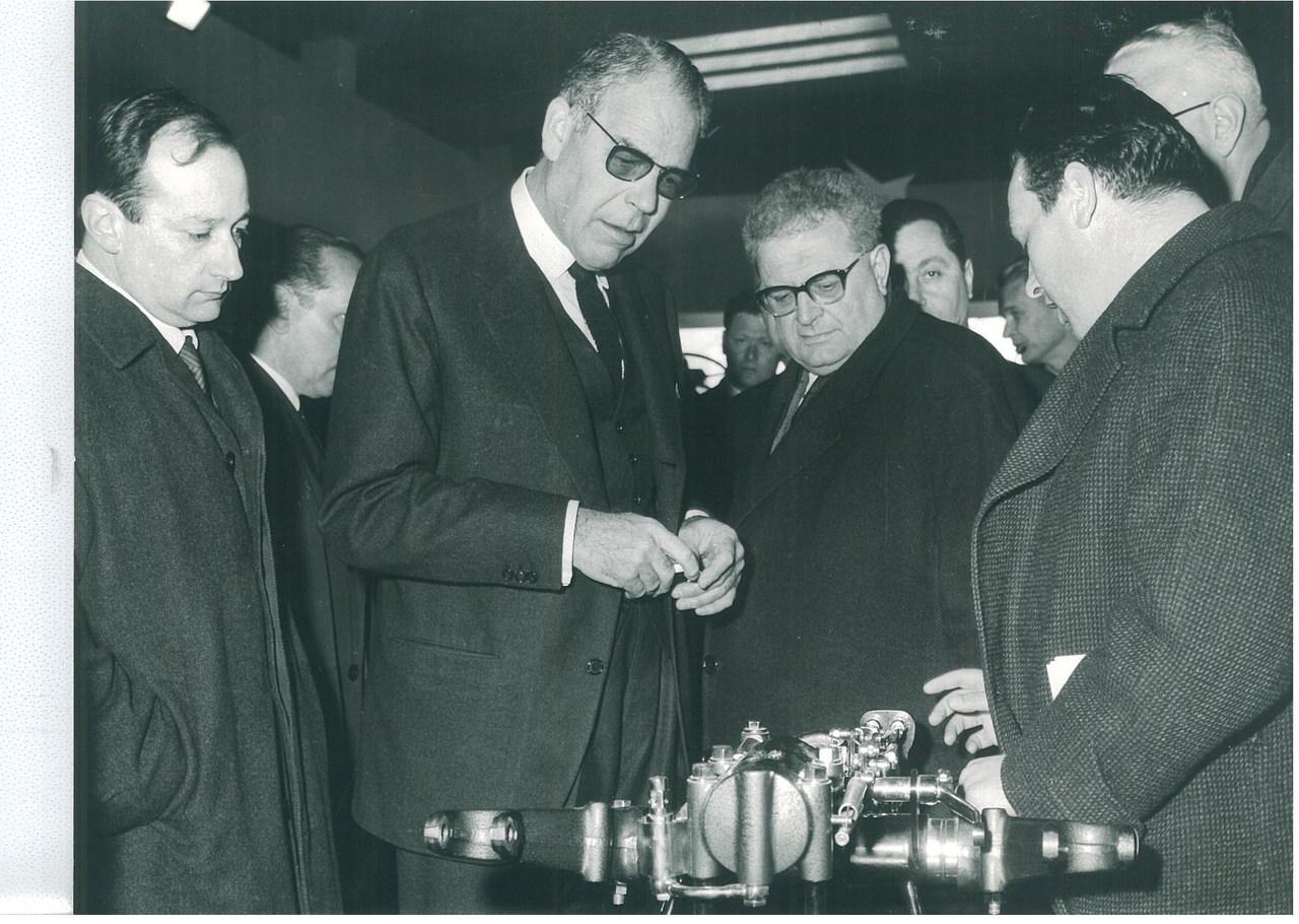 Visita di S.E. Ambasciatore degli U.S.A. Sig. Reinhardt con On. Emilio Trabucchi