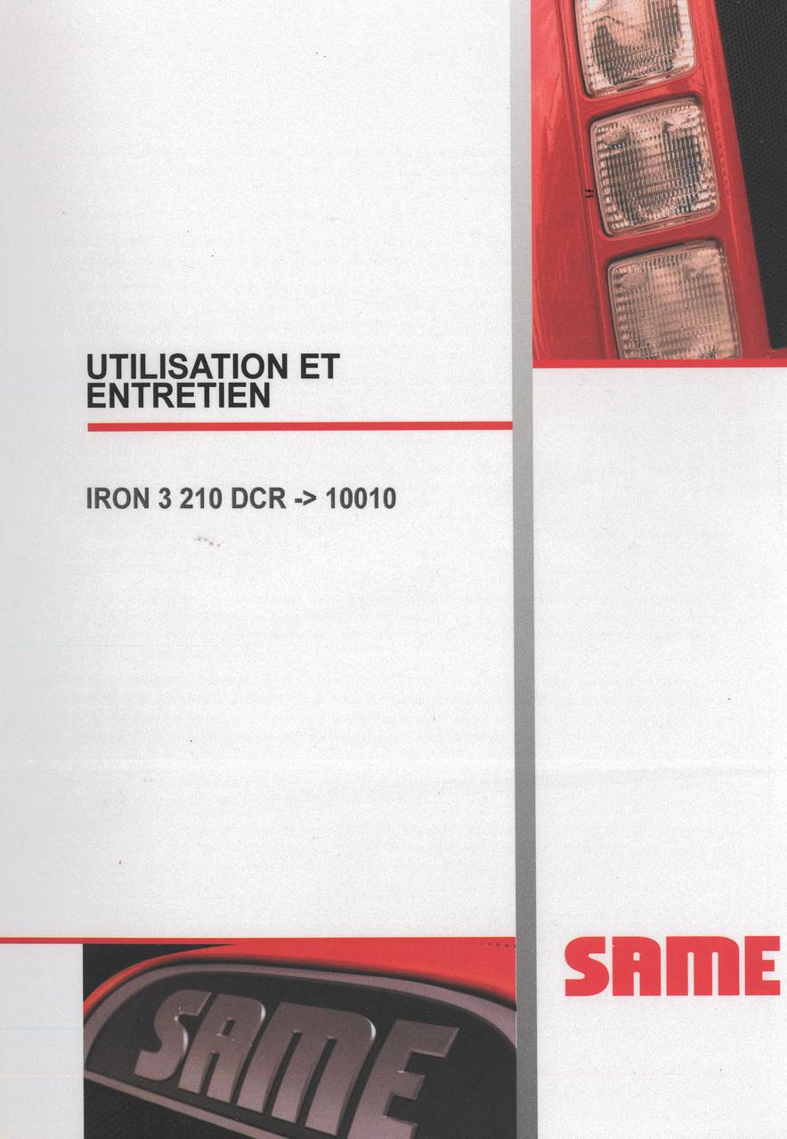 IRON 3 210 DCR ->10010 - Utilisation et entretien
