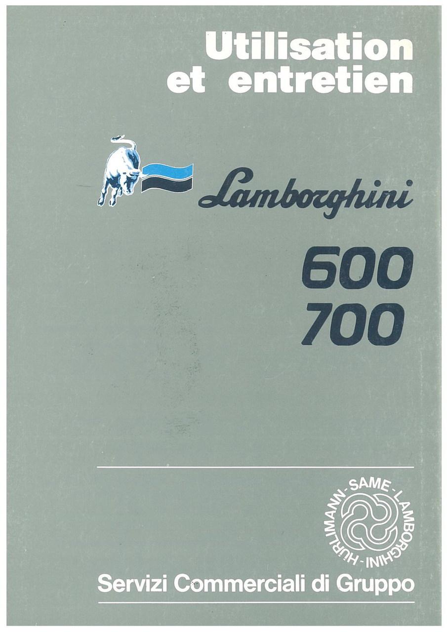 600 - 700 - Utilisation et Entretien