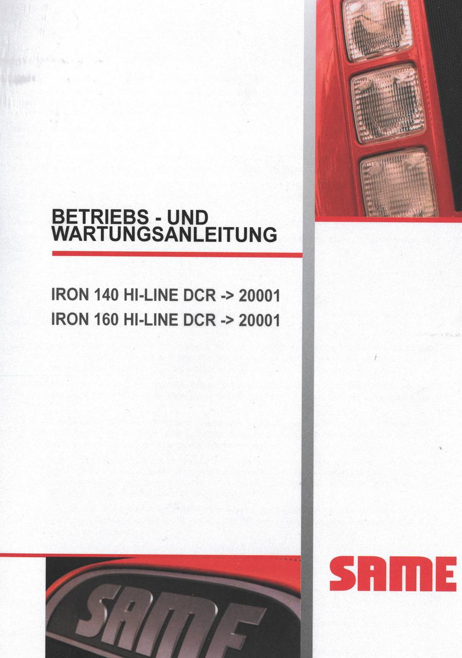 IRON 140 HI-LINE DCR ->20001 - IRON 160 HI-LINE DCR ->20001 - Betriebs und Wartungsanleitung