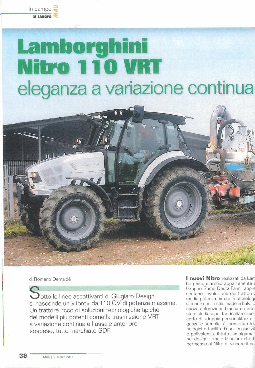Lamborghini Nitro 110 VRT: eleganza a variazione continua