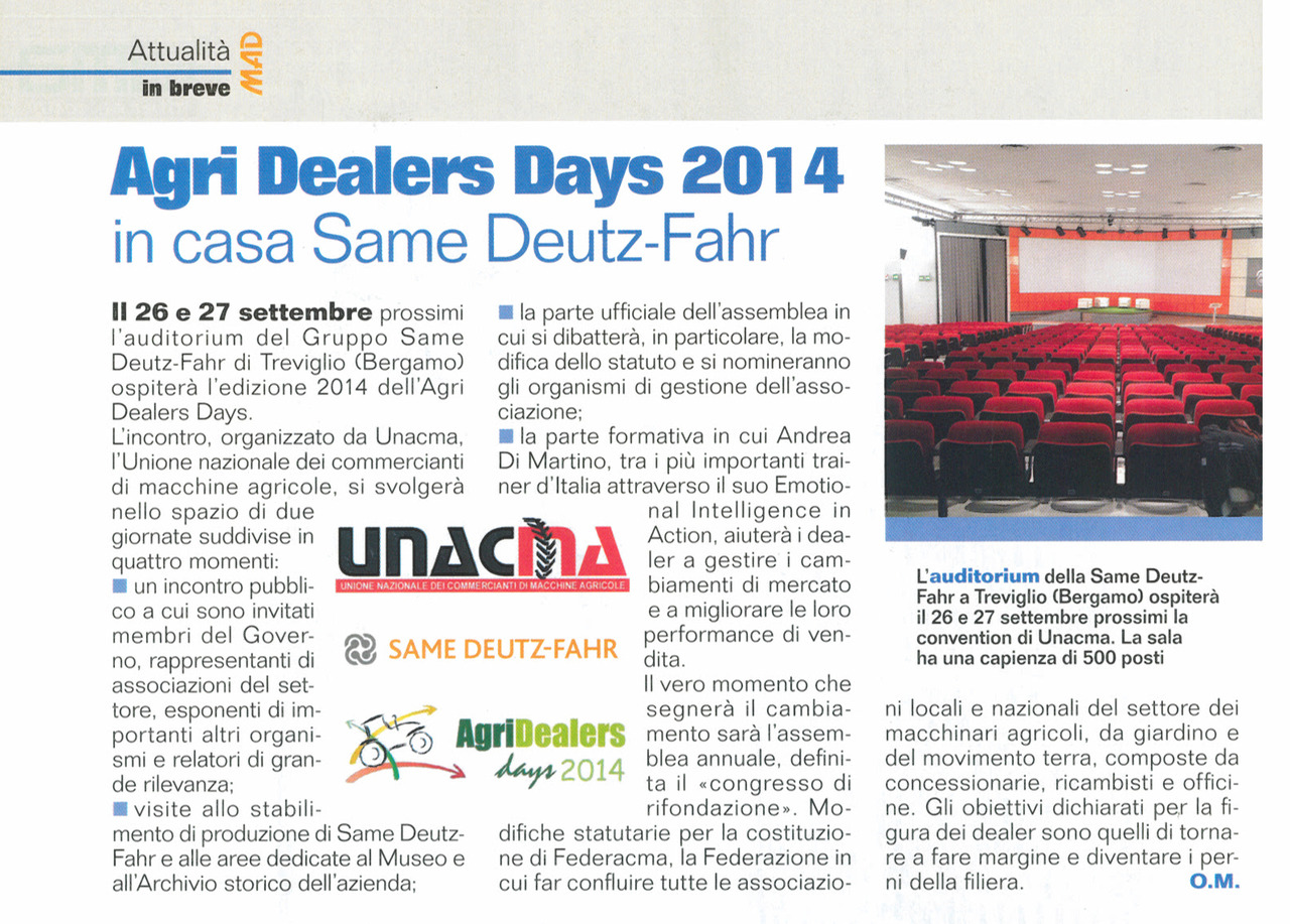 Agri Dealers Days 2014 in casa Same Deutz-Fahr