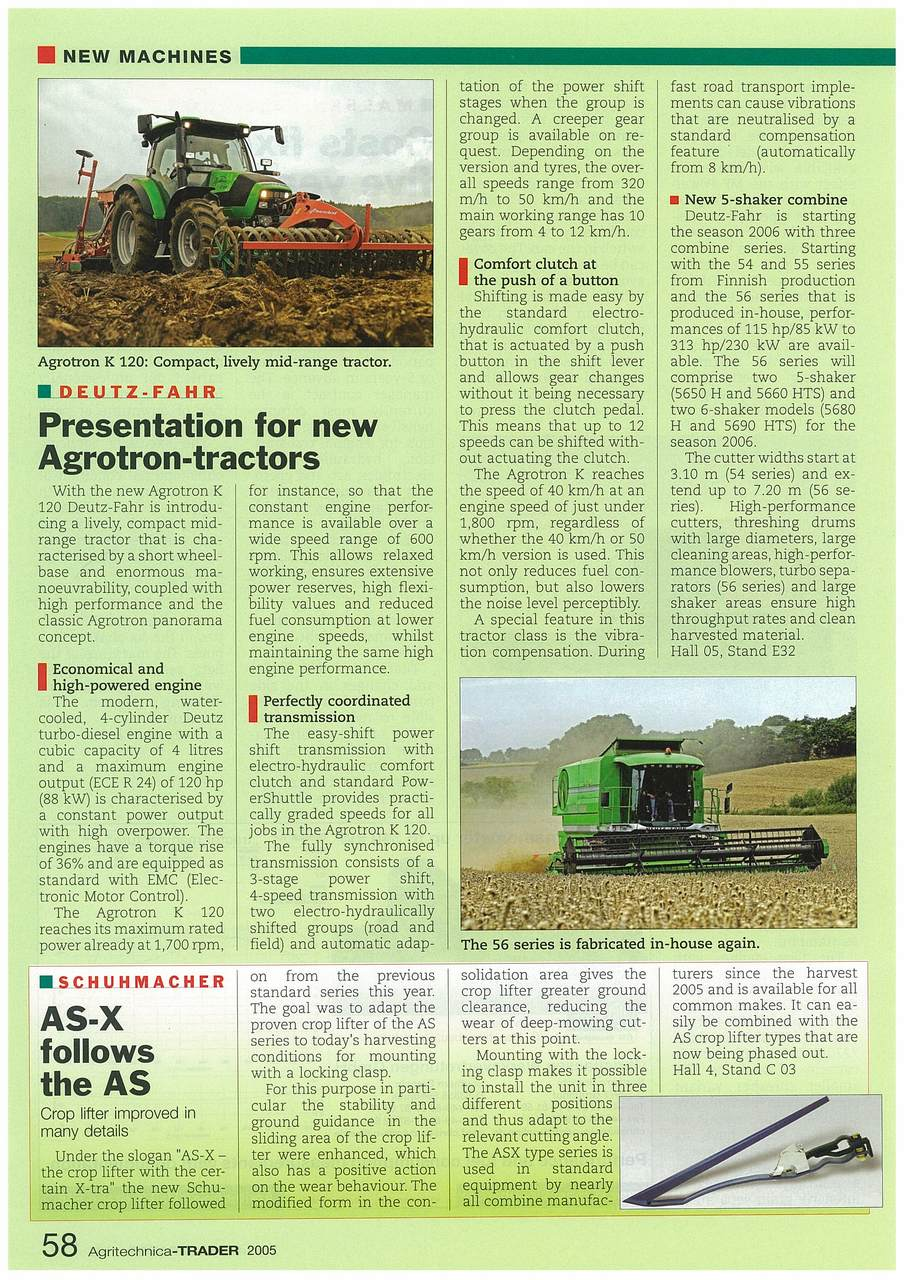 Presentation for new Agrotron-tractors