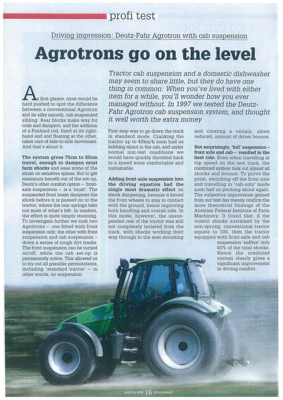 Agrotrons go on the level