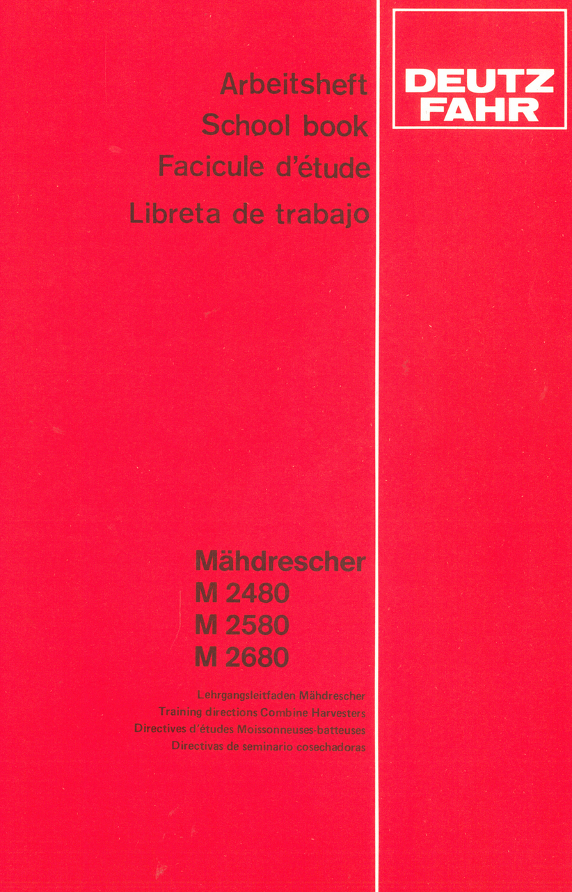 M 2480 - M 2580 - M 2680 - Arbeitsheft