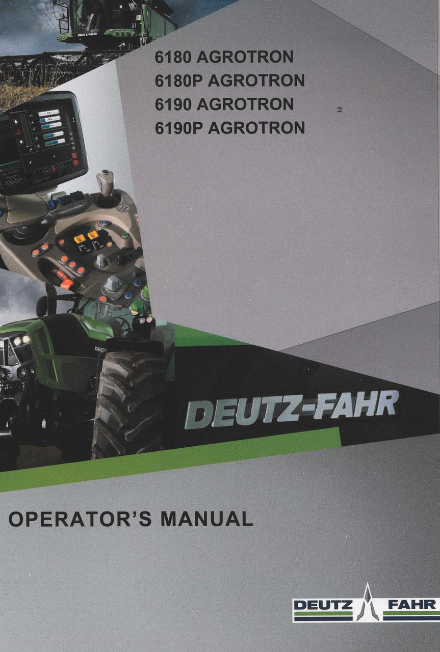 6180 AGROTRON - 6180P AGROTRON - 6190 AGROTRON - 6190P AGROTRON - Operator's manual