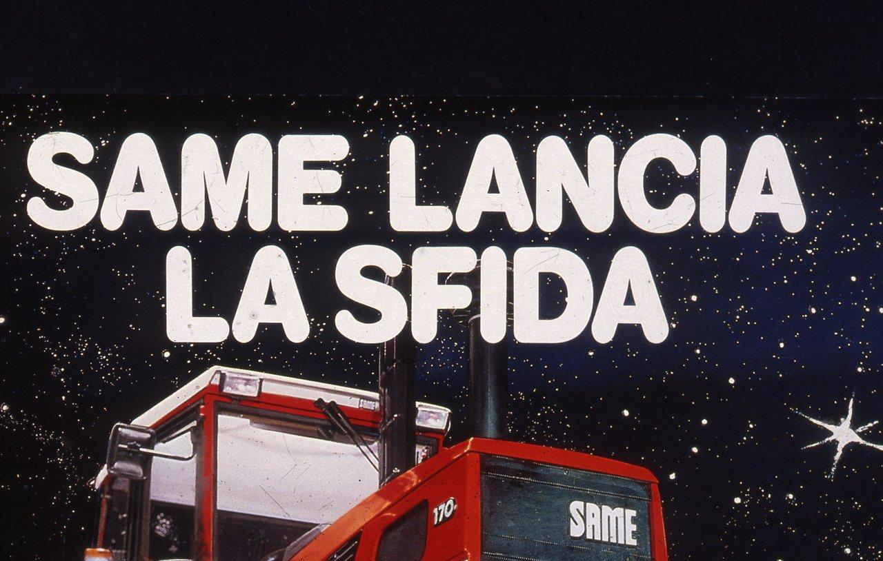 """[SAME] materiale pubblicitario utilizzato per la campagna """"Same lancia la sfida"""""""