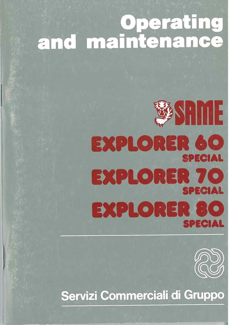 EXPLORER 60 - 70 - 80 SPECIAL - Operating and maintenance