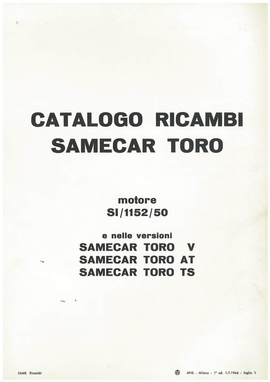 SAMECAR Toro - Catalogo parti di ricambio