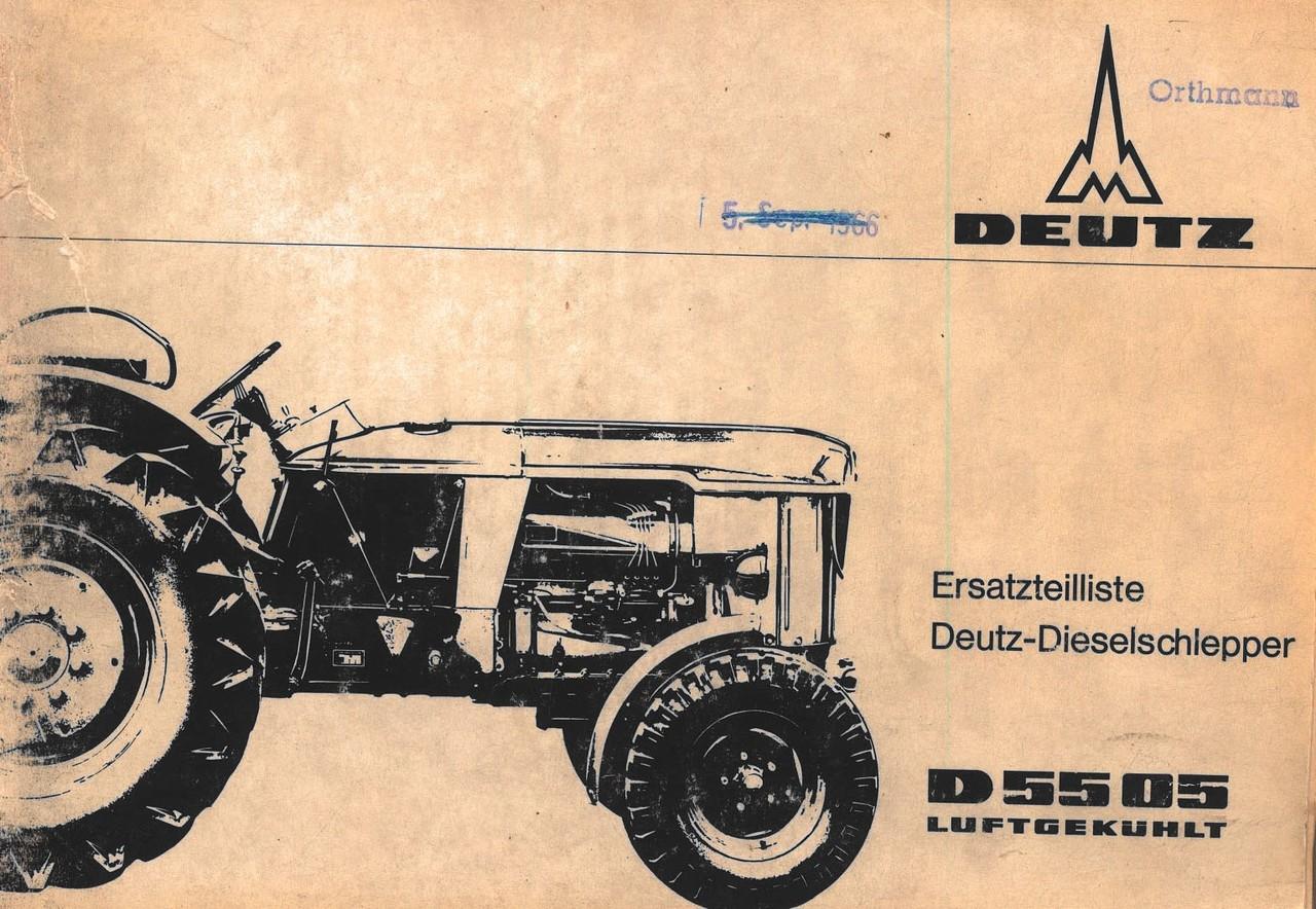 D 5505 - Ersatzteilliste