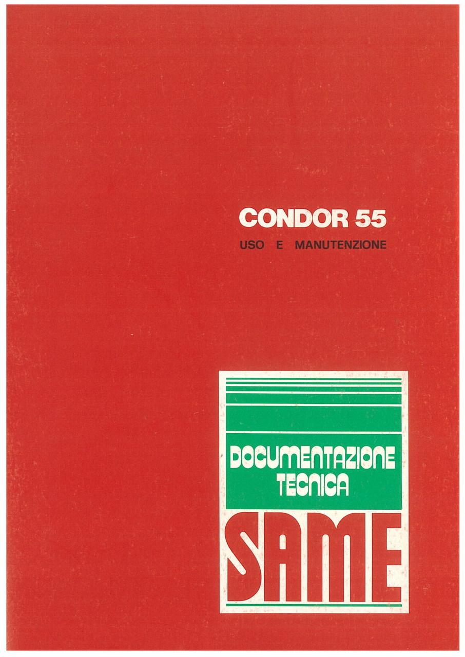 CONDOR 55 - Libretto uso & manutenzione