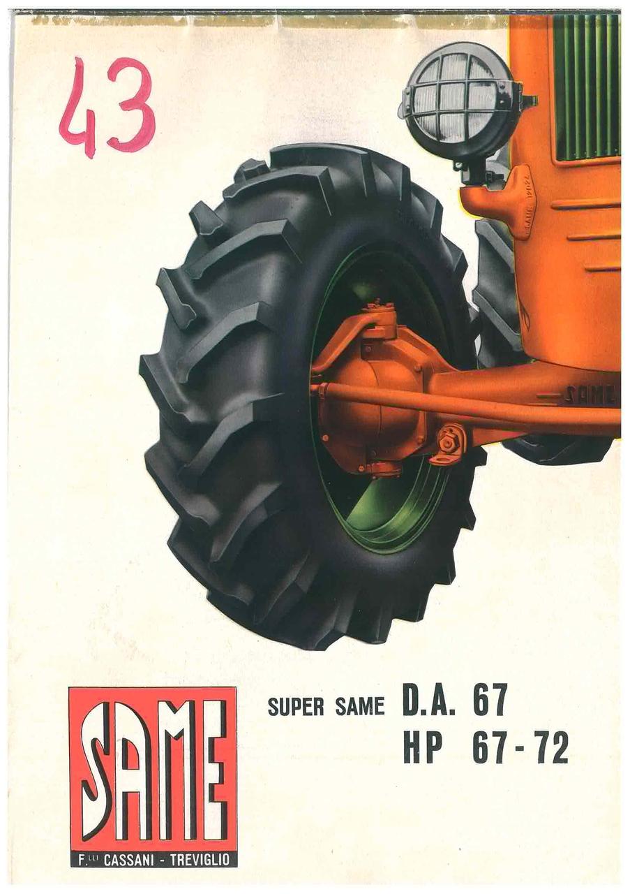 Super Same DA 67 Hp 67 - 72