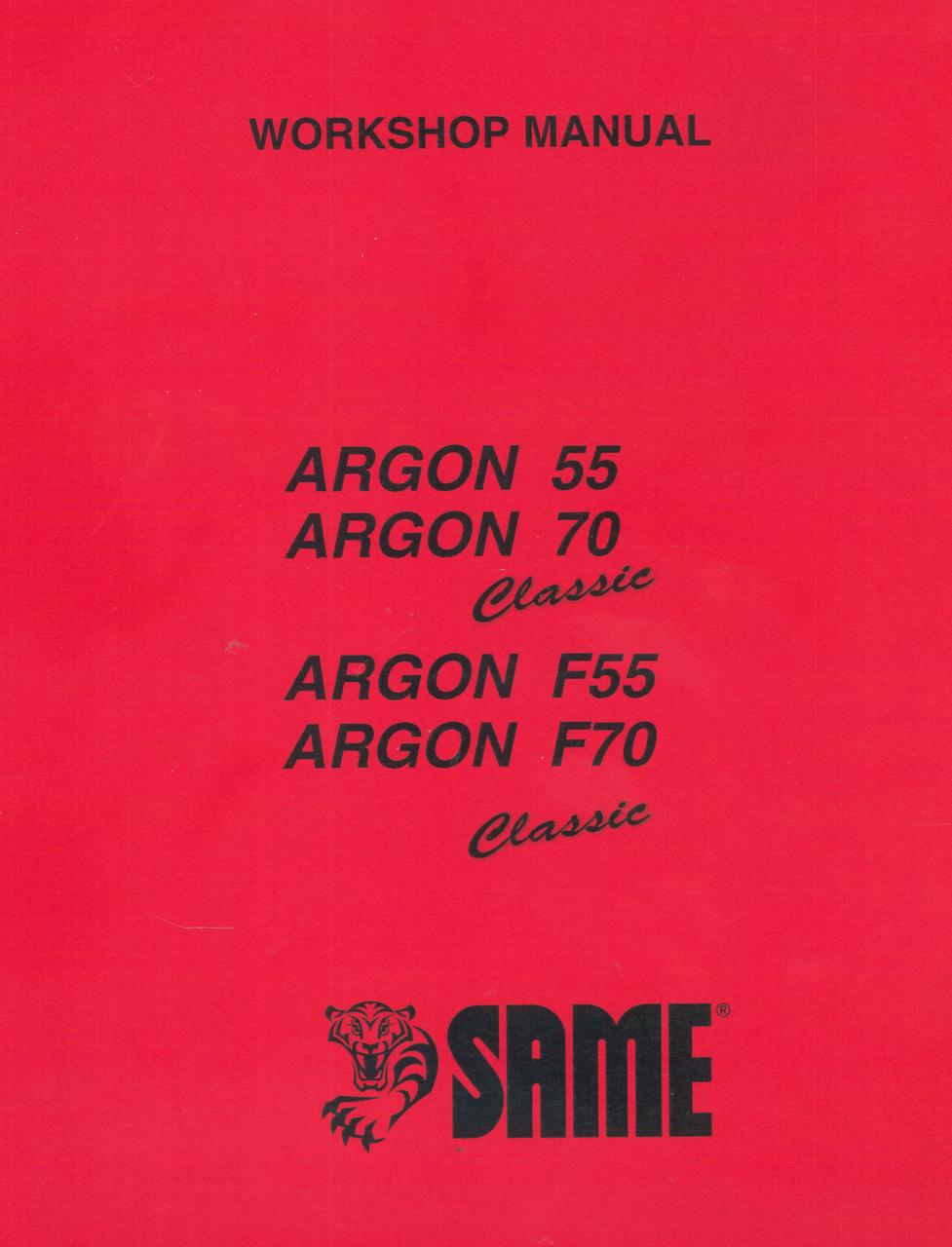 ARGON 55 CLASSIC - ARGON 70 CLASSIC - ARGON F 55 CLASSIC - ARGON F 70 CLASSIC - Workshop manual