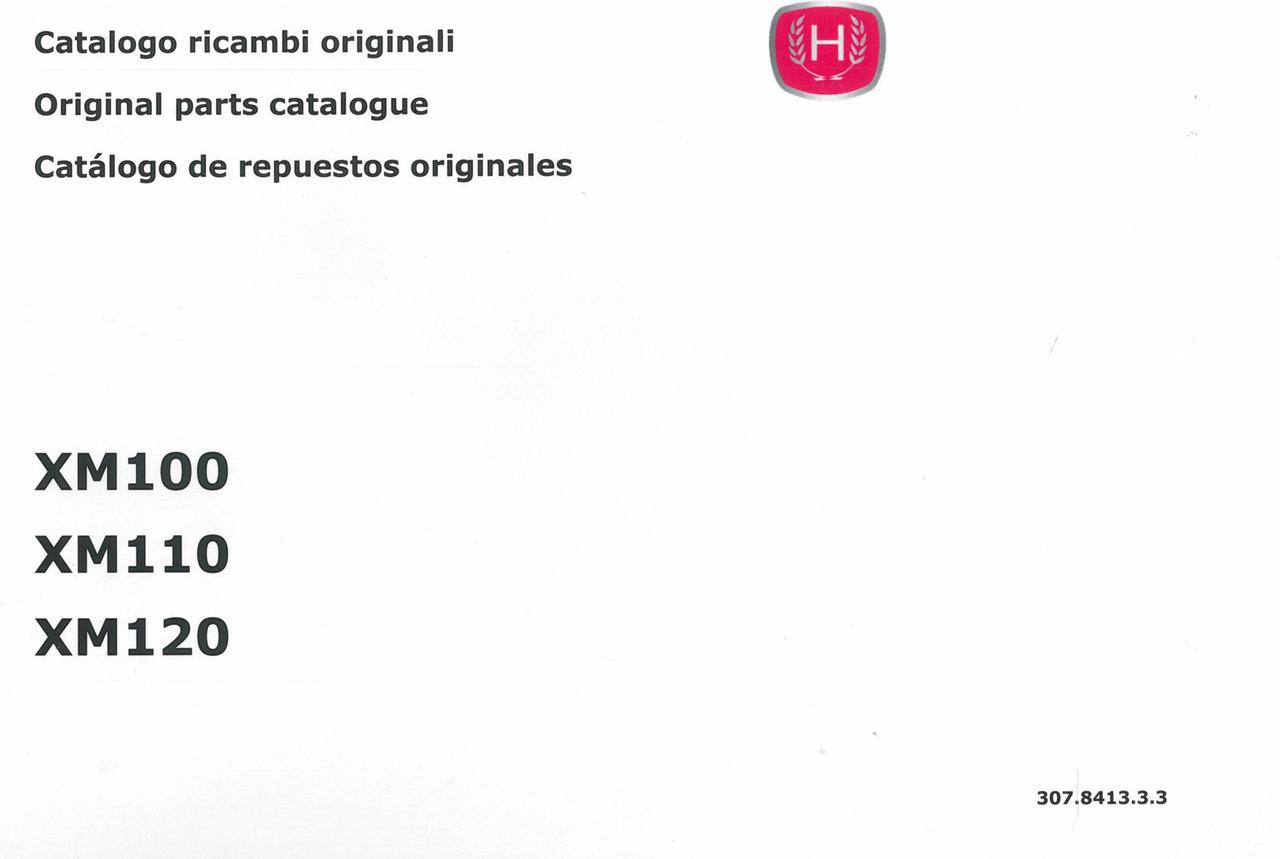 XM 100 - 110 - 120 - Catalogo ricambi originali / Original parts catalogue / Catalogo de repuestos originales