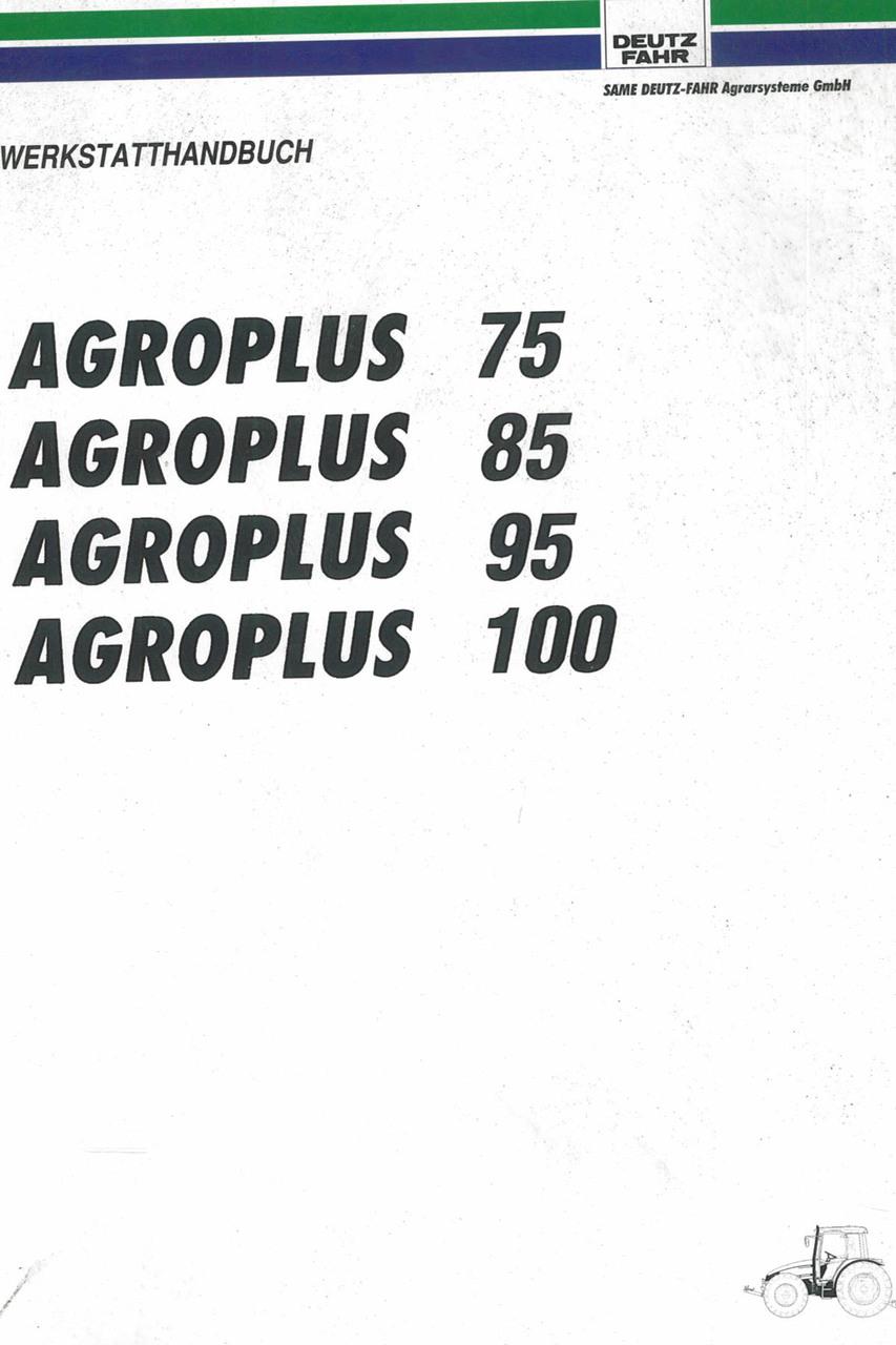 AGROPLUS 75 - 85 - 95 - 100 - Werkstatthandbuch