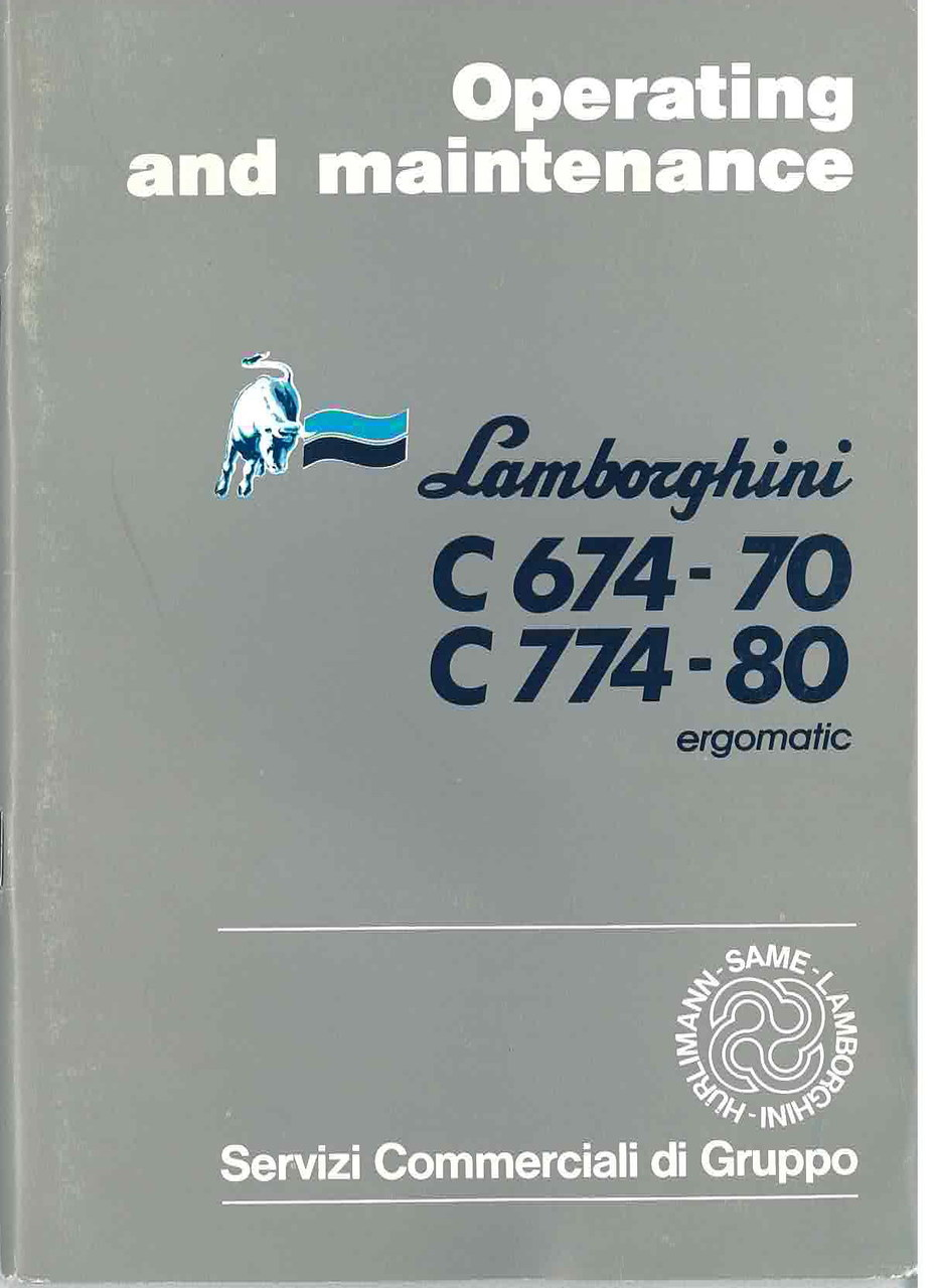 C 674.70 - C 774.80 ERGOMATIC - Operating and Maintenance