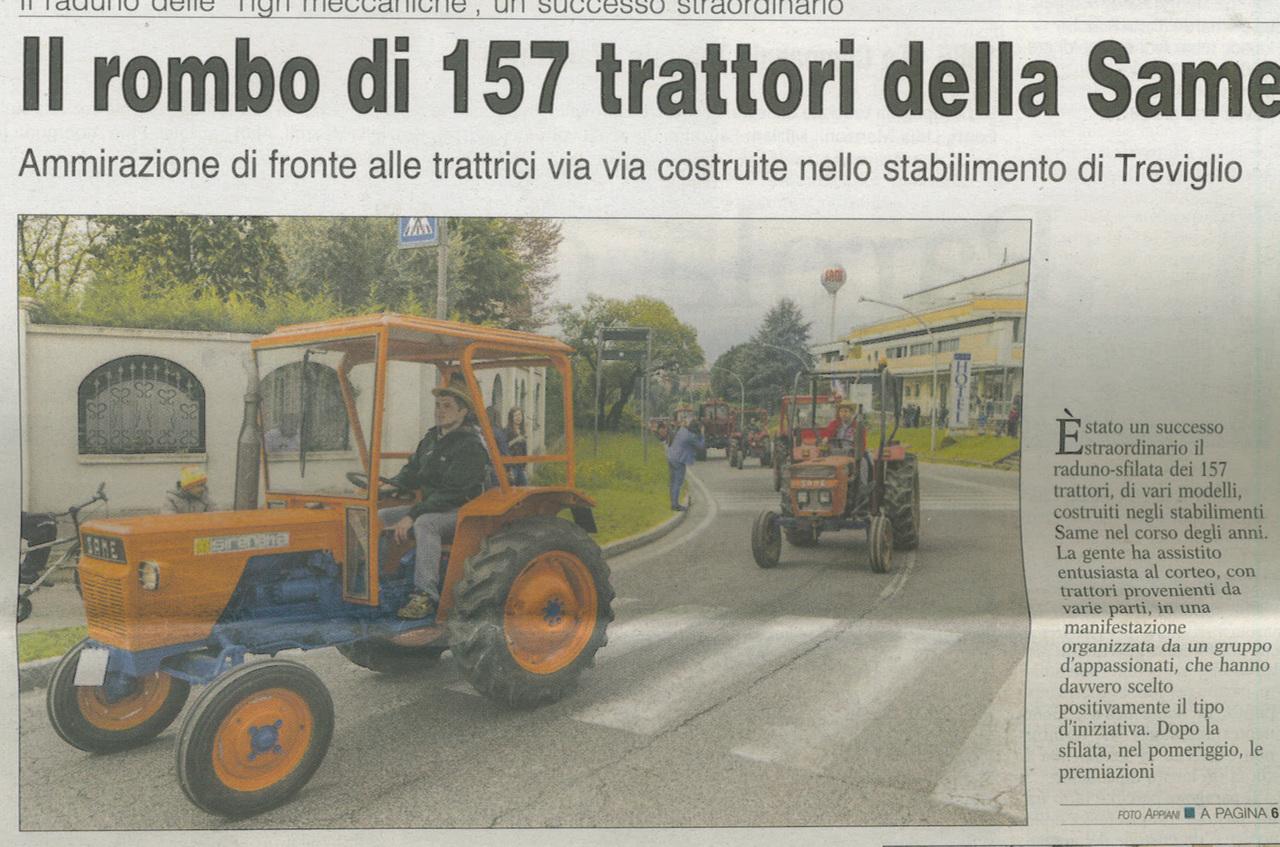 Il rombo di 157 trattori della SAME