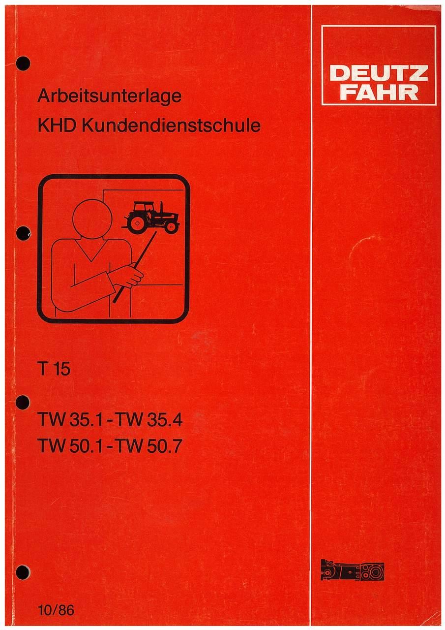 TW 35.1-35.4-50.1-50.7 Getriebe T 15 - Arbeitsunterlage KHD Kundendienstschule