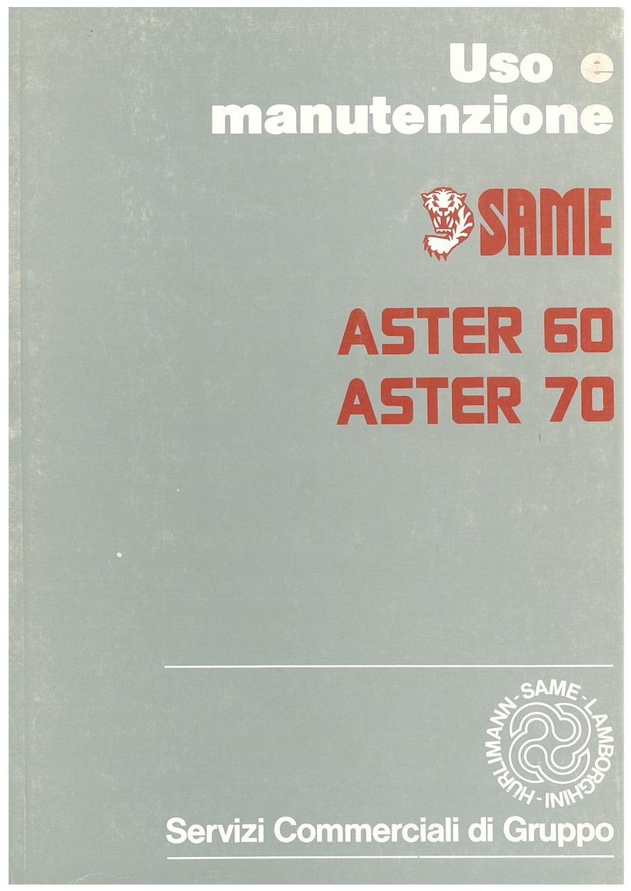 ASTER 60 - 70 - Libretto uso & manutenzione