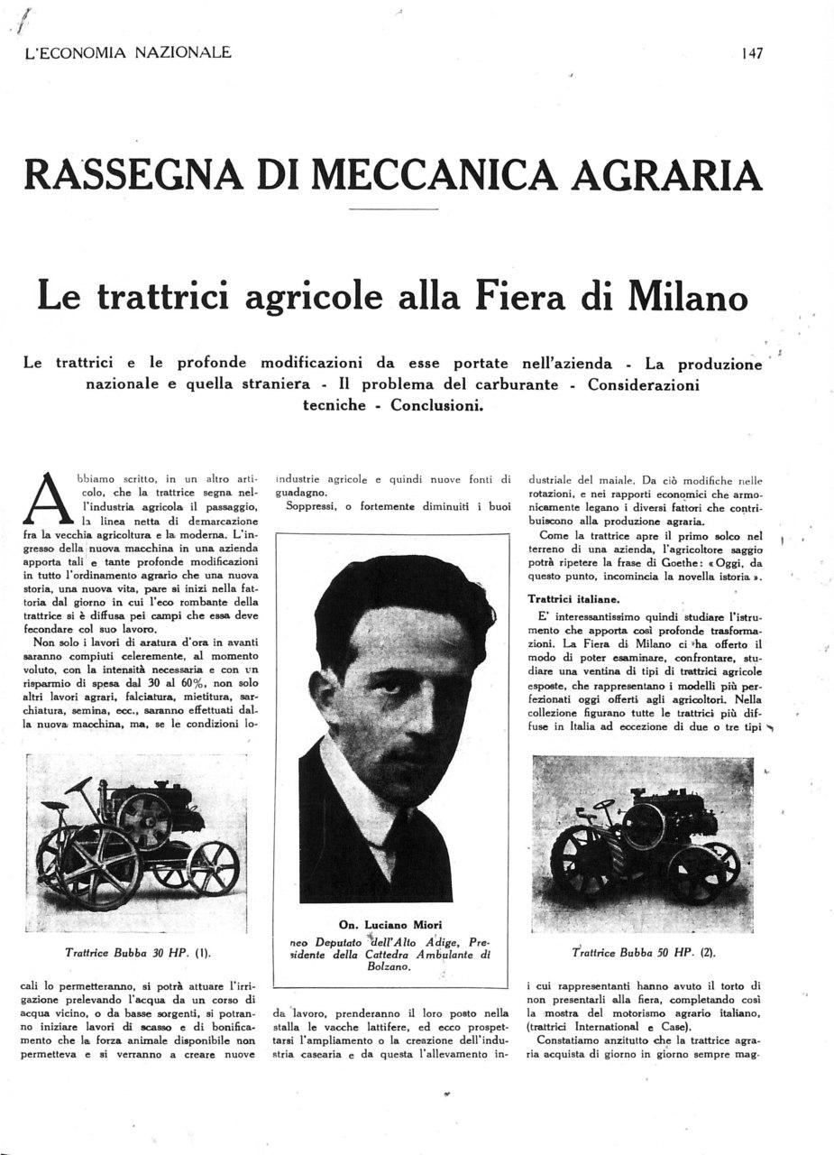 Le trattrici agricole alla Fiera di Milano