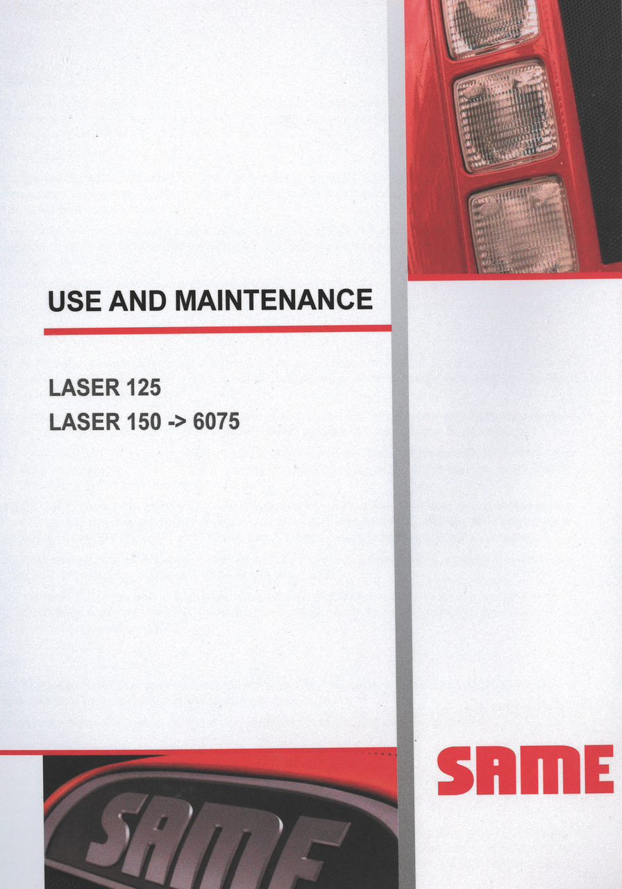 LASER 125 - LASER 150 ->6075 - Use and maintenance