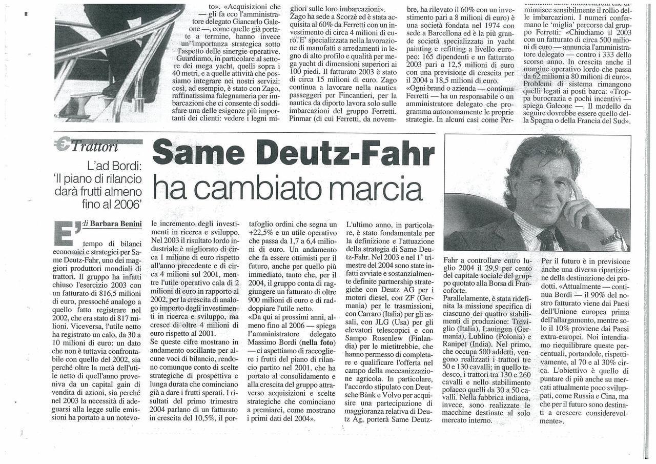 SAME Deutz-Fahr ha cambiato marcia