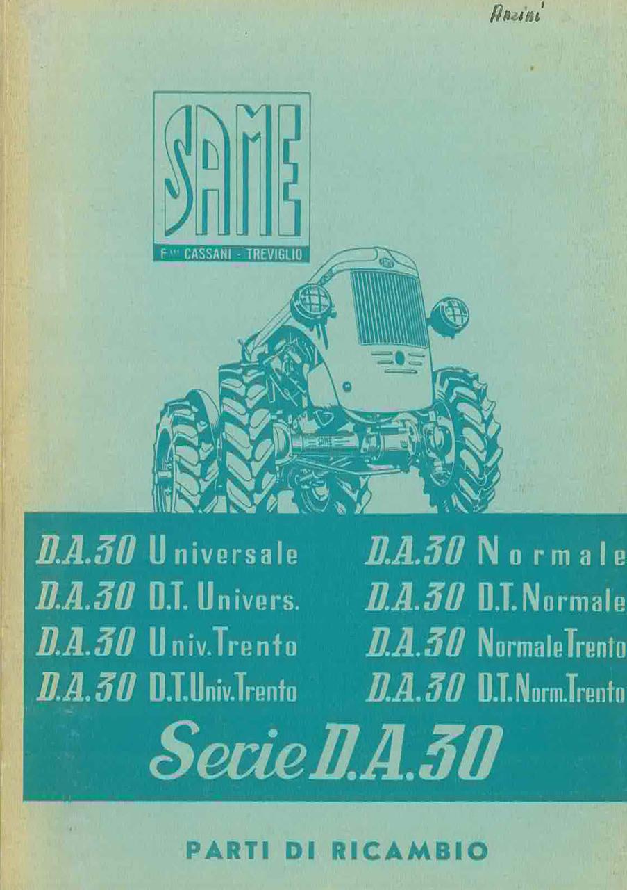 DA 30 Universale-DT Universale-Trento-Normale - Catalogo Parti di Ricambio