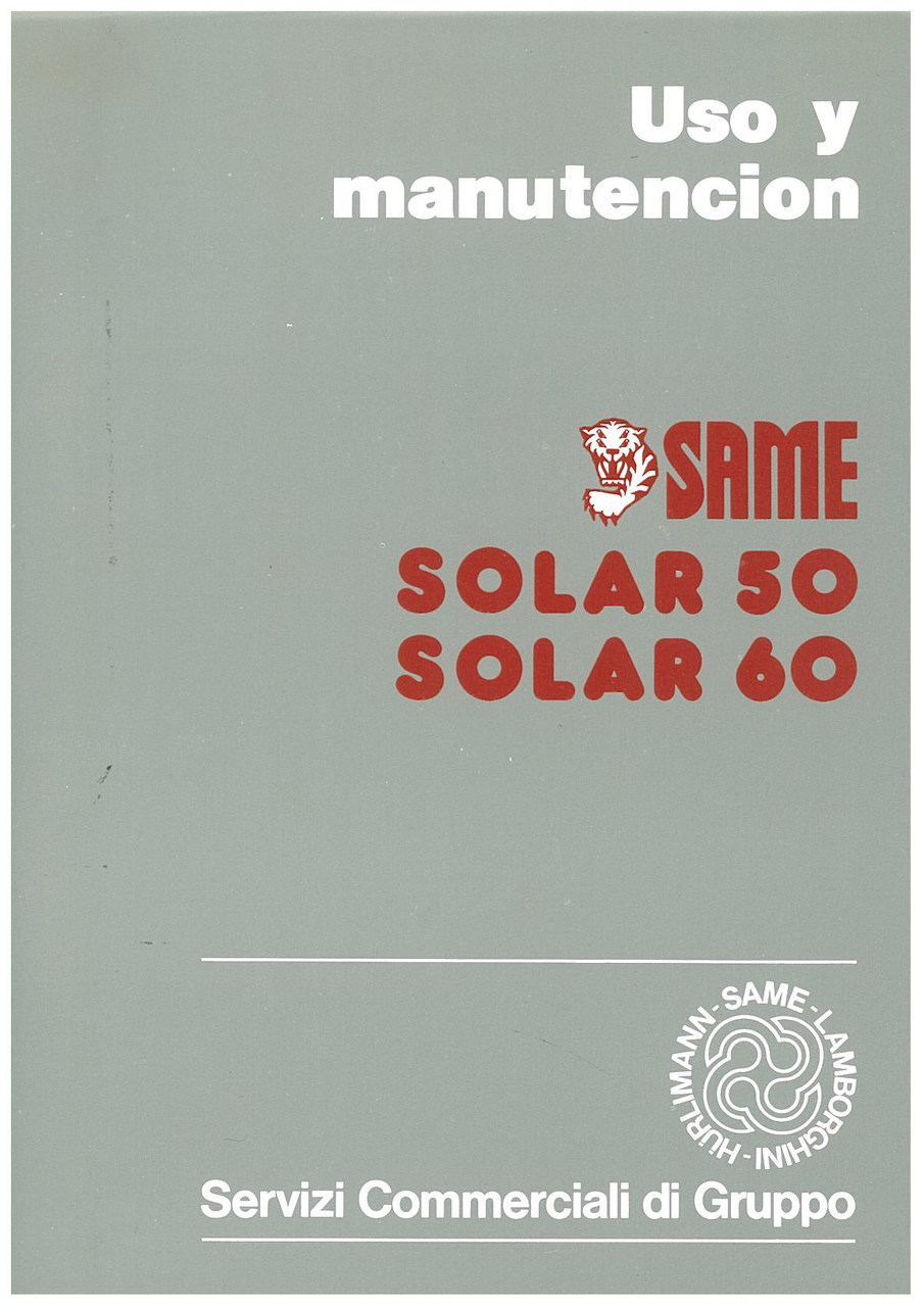 SOLAR 50 - 60 - Uso y manutencion