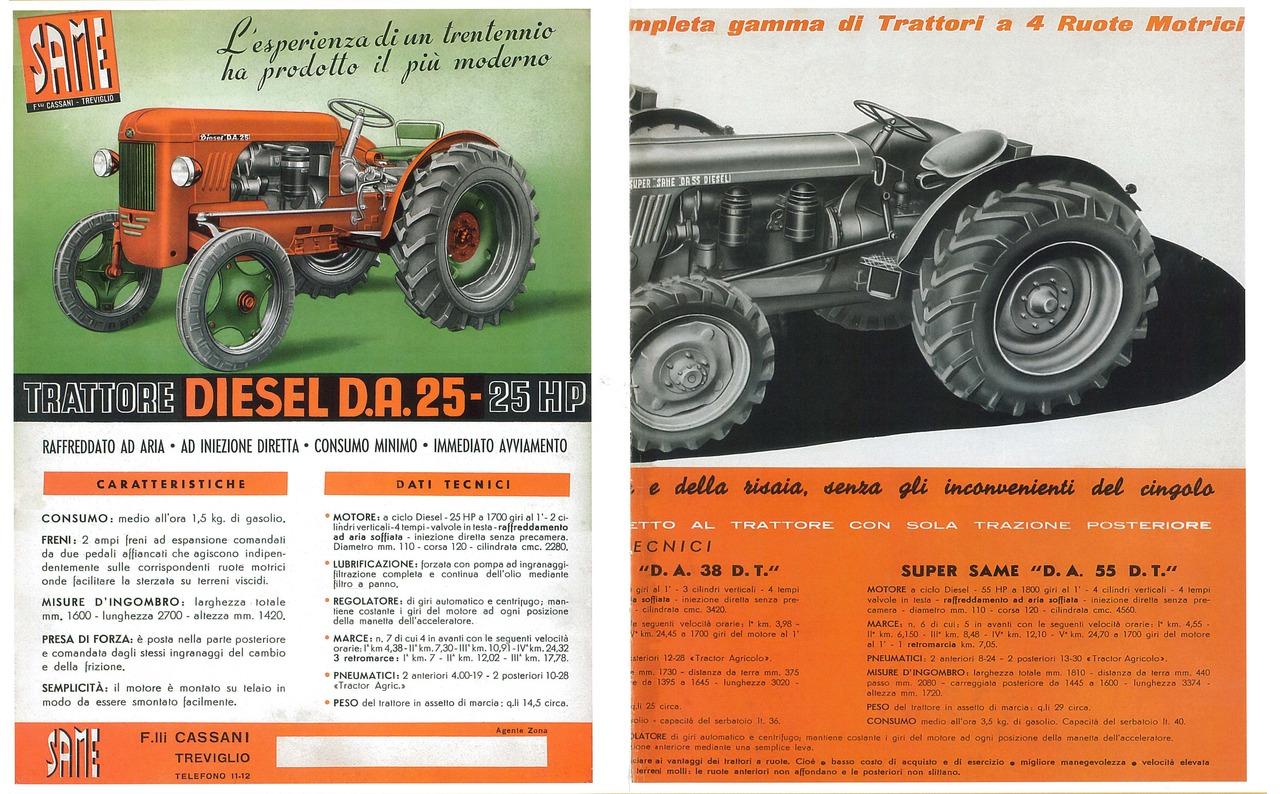 L'esperienza di un trentennio ha prodotto il più moderno trattore diesel DA 25 - 25 HP