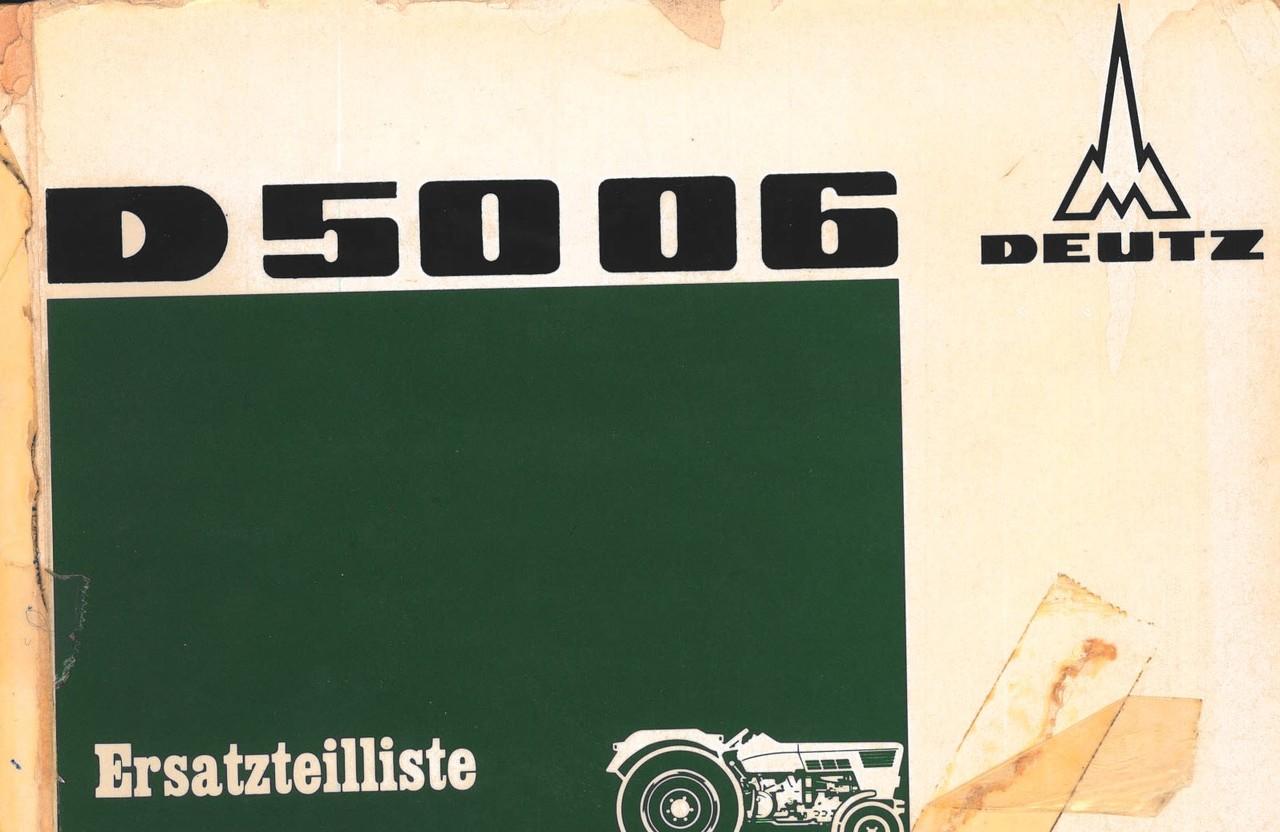 D 5006 - Ersatzteilliste