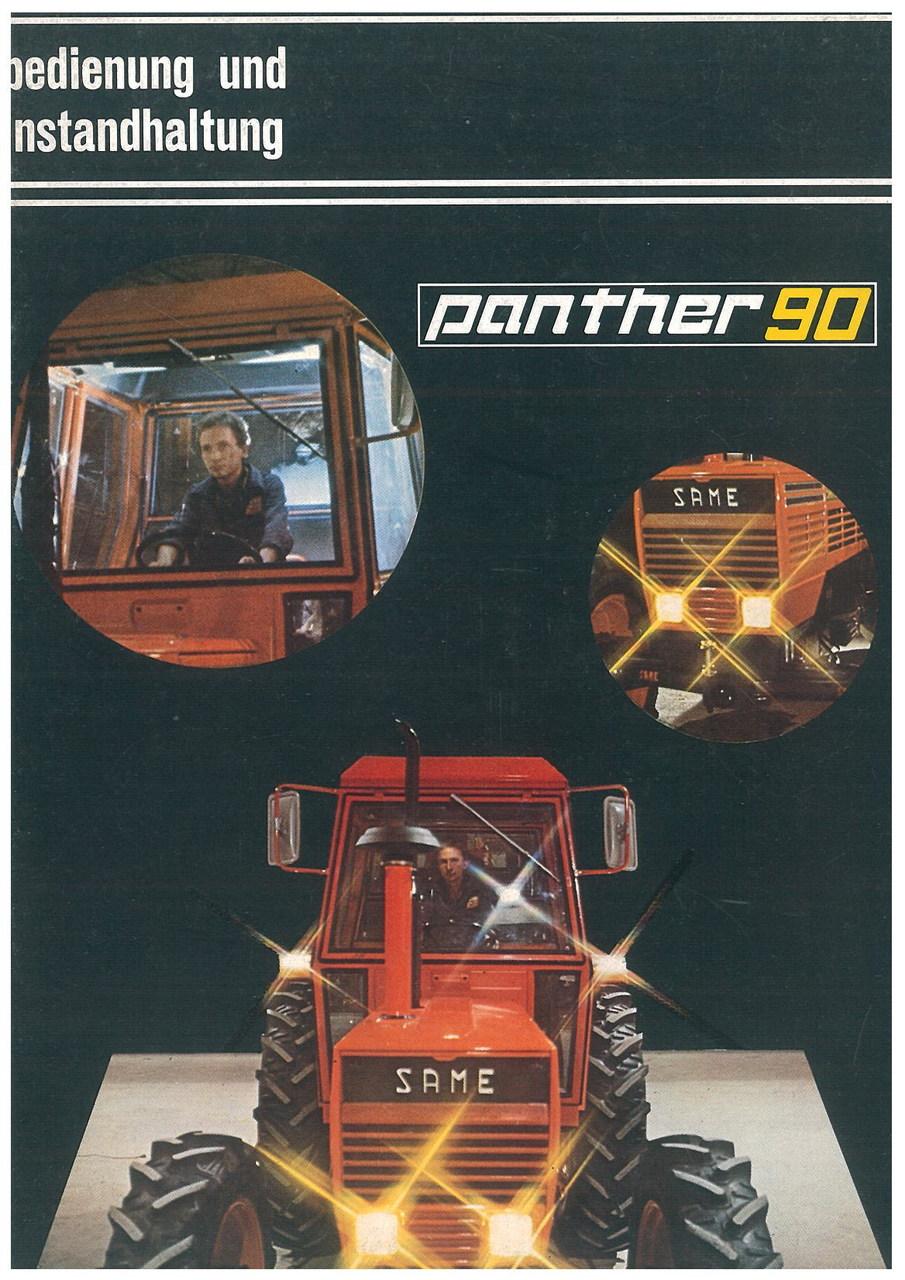 PANTHER 90 - Bedienung und wartung