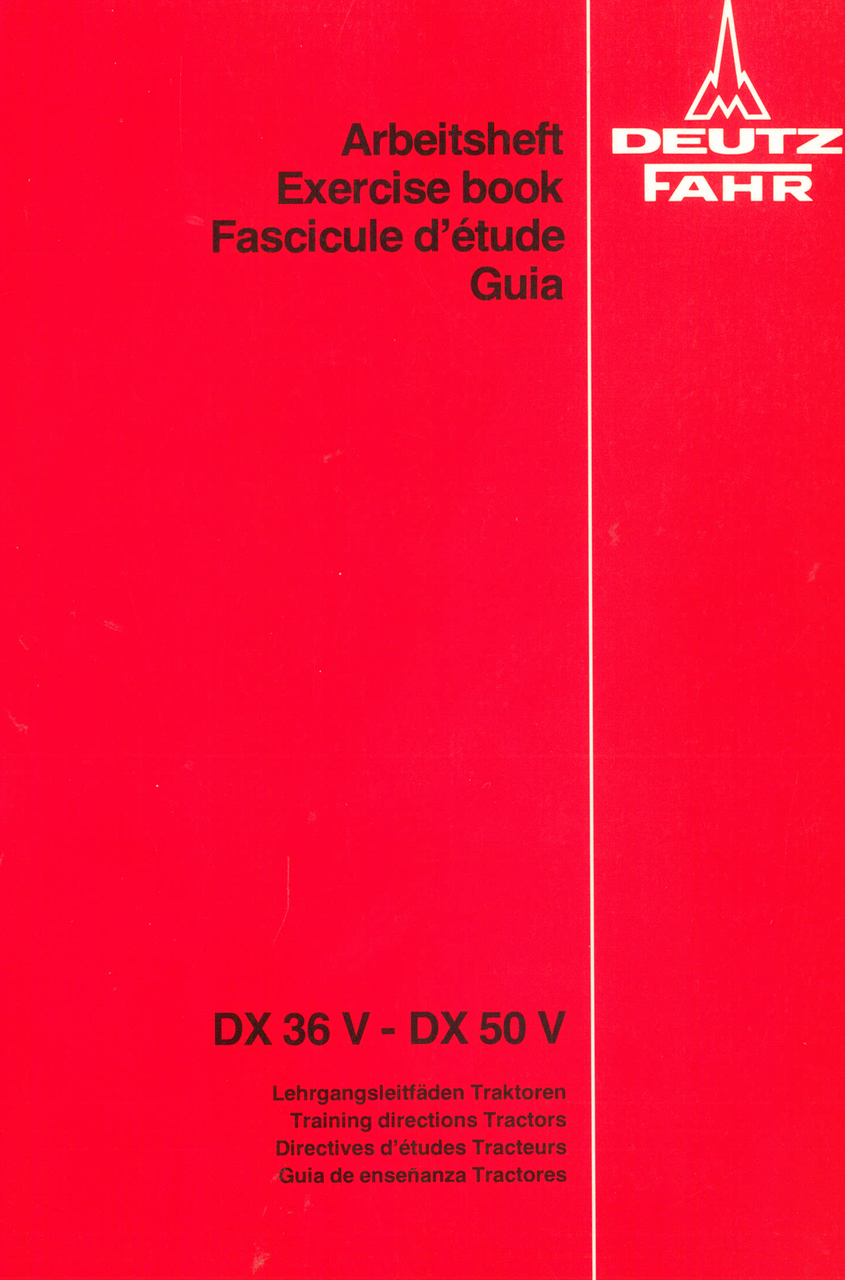 DX 36 V - DX 50 V - Arbeitsheft
