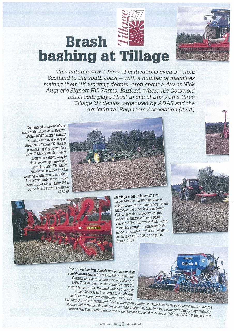Brash bashing at Tillage