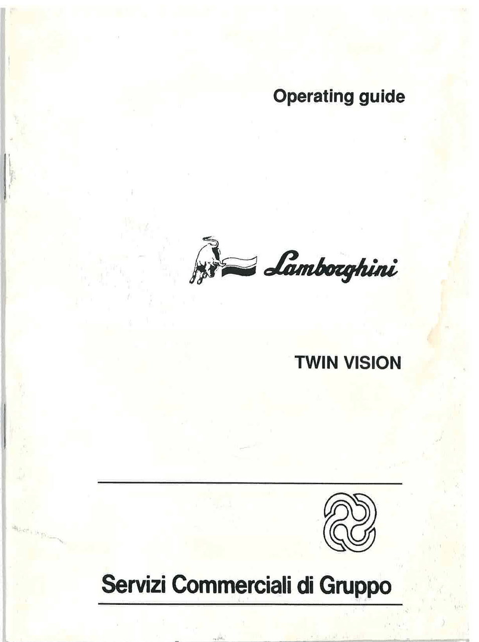TWIN VISION - Operating and Maintenance