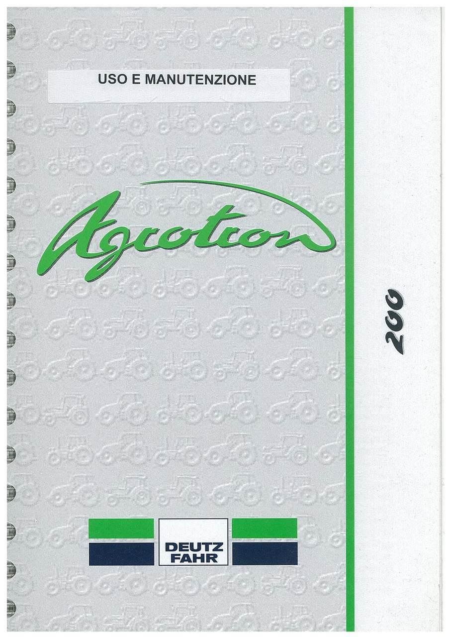 AGROTRON 200 - Uso e manutenzione
