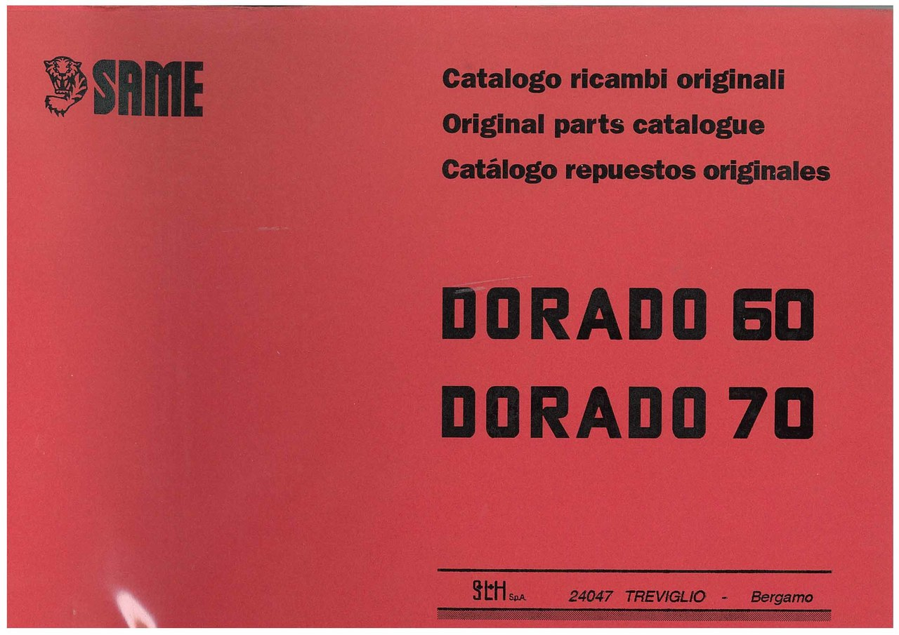 DORADO 60-70 - Catalogo ricambi originali / Original parts catalogue / Catálogo repuestos originales