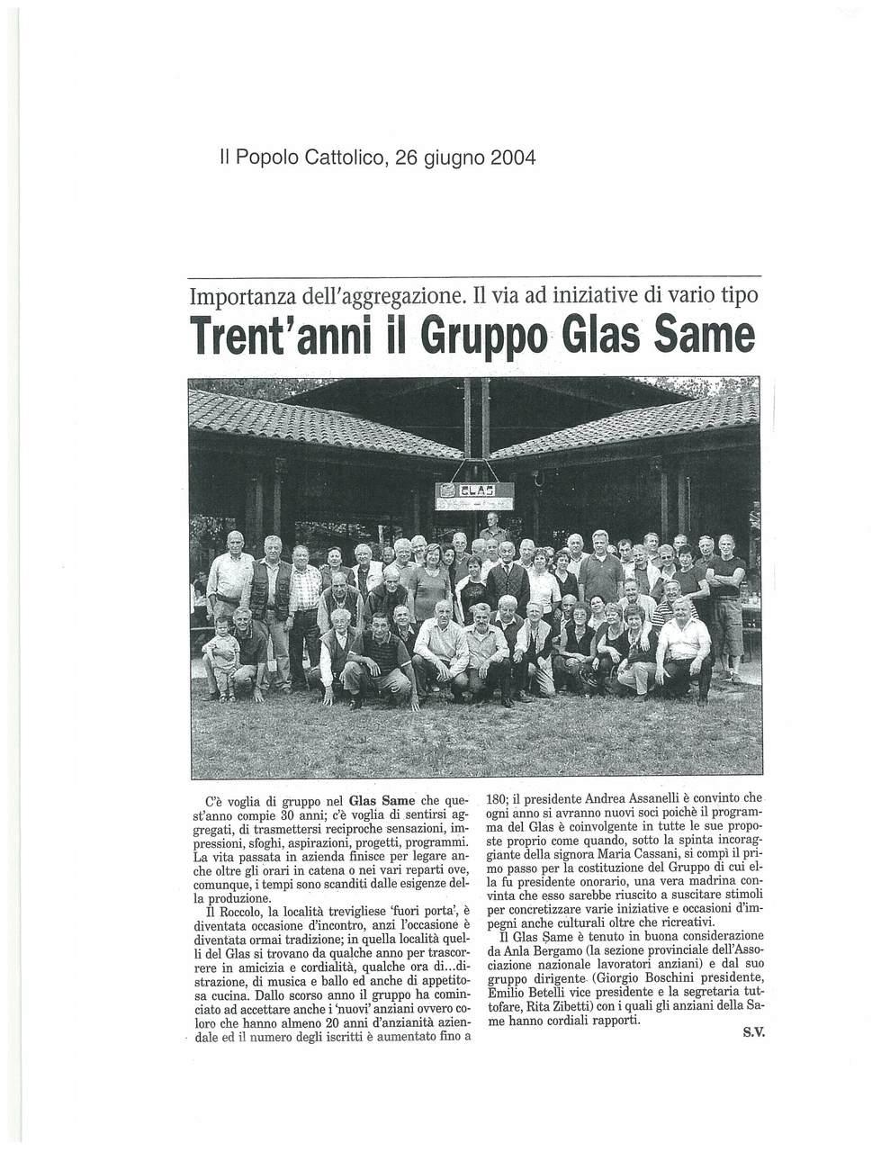 Trent'anni il Gruppo Glas SAME