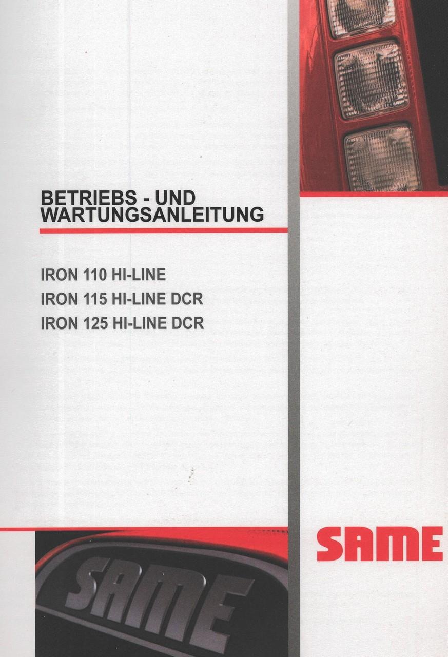 IRON 110 HI-LINE - IRON 115 HI-LINE DCR - IRON 125 HI-LINE DCR - Betriebs - und Wartungsanleitung