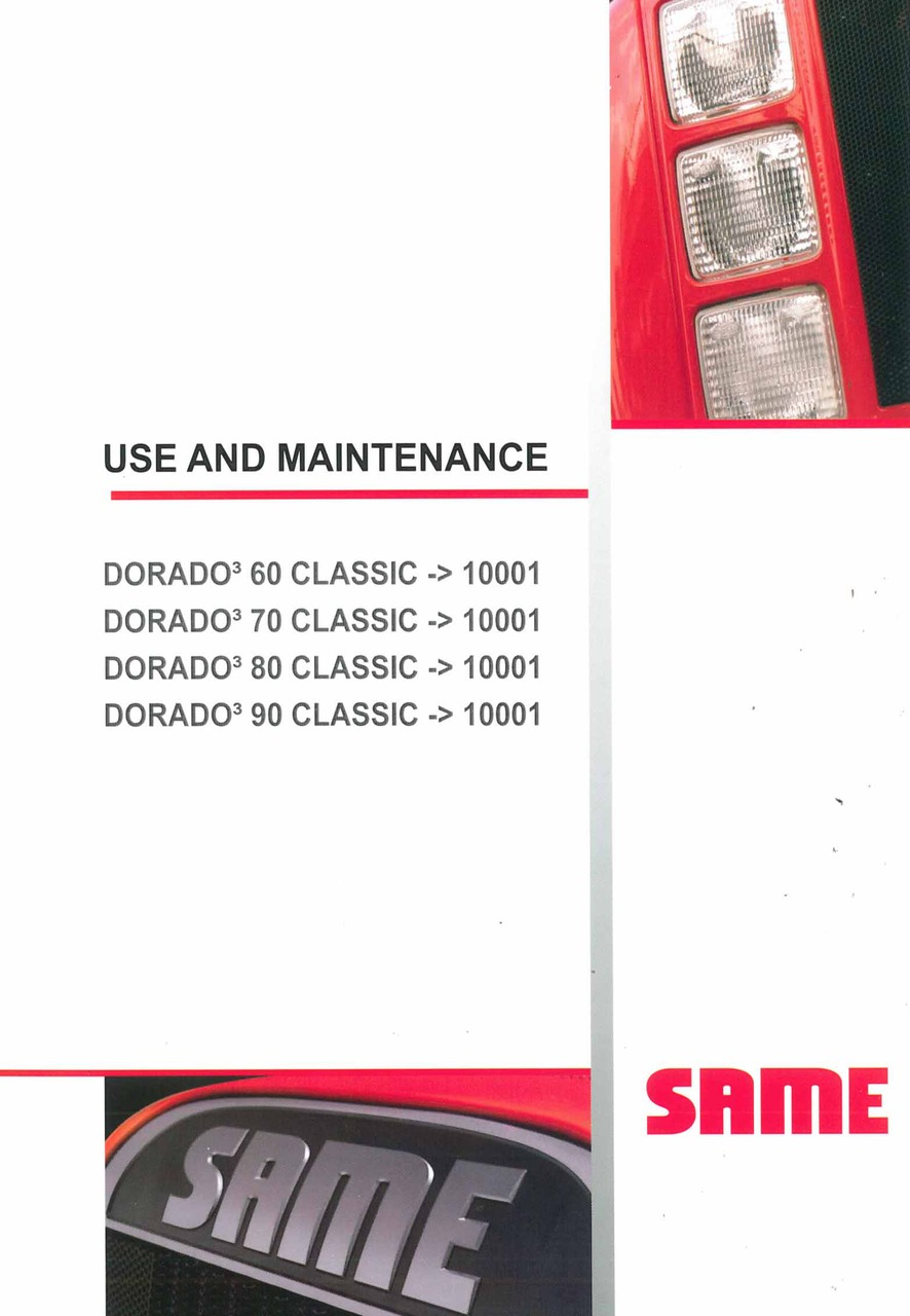 DORADO³ 60-70-80-90 CLASSIC - Use and Maintenance