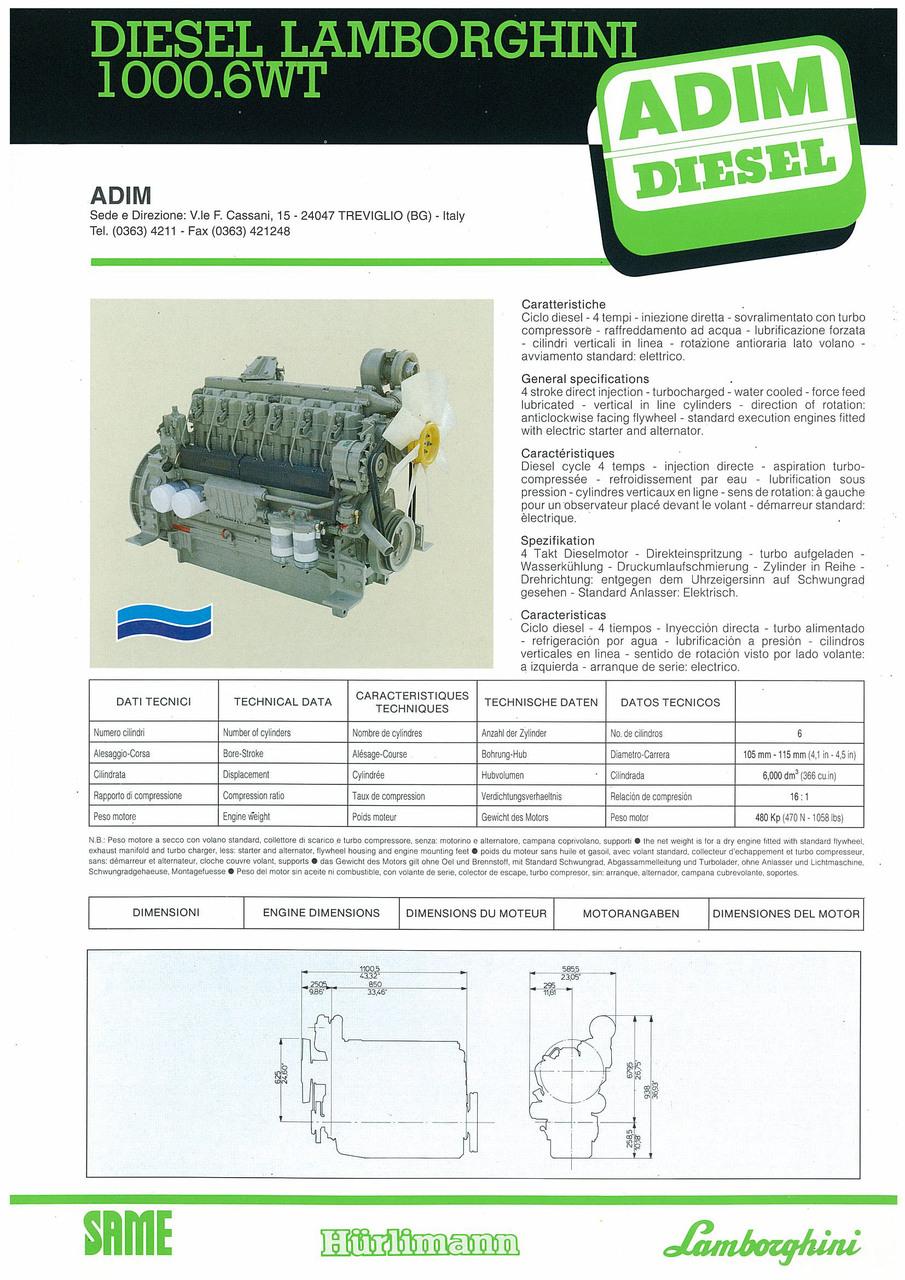 Motore 1000.6 WT