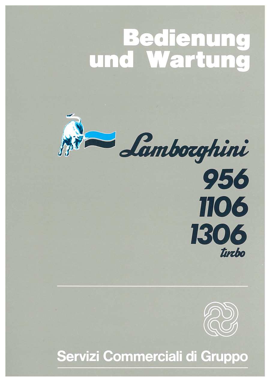 956-1106-1306 TURBO - Bedienung und Wartung