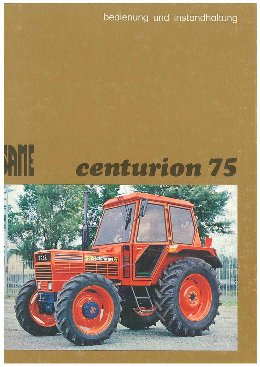 CENTURION 75 - Bedienung und wartung
