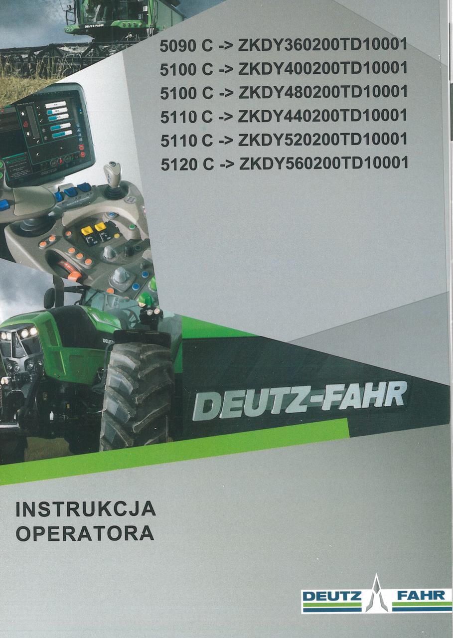 5090 C ->ZKDY360200TD10001 - 5100 C ->ZKDY400200TD10001 - 5100 C ->ZKDY480200TD10001 - 5110 C ->ZKDY440200TD10001 - 5110 C ->ZKDY520200TD10001 - 5120 C ->ZKDY560200TD10001 - Instrukcja operatora