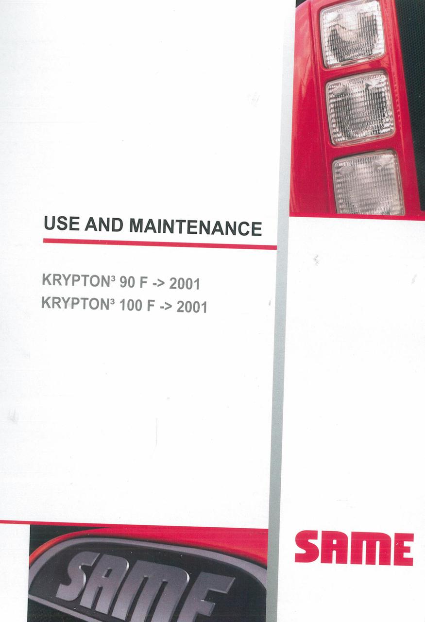 KRYPTON³ 90 F ->2001 - KRYPTON³ 100 F ->2001 - Use and maintenance