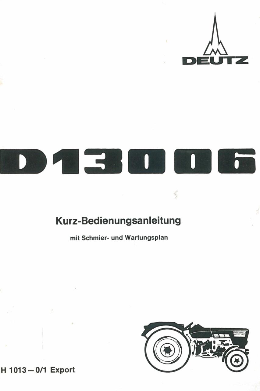 D 130 06 - Kurz-Bedienungsanleitung