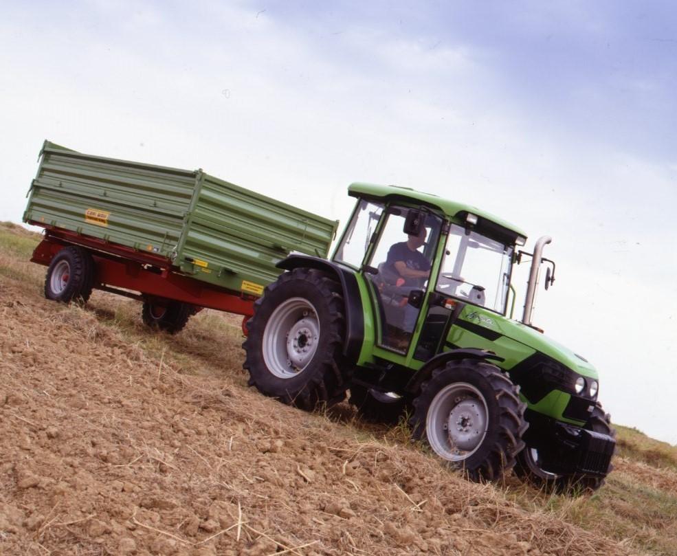 [Deutz-Fahr] trattore Agroplus 70 con rimorchio