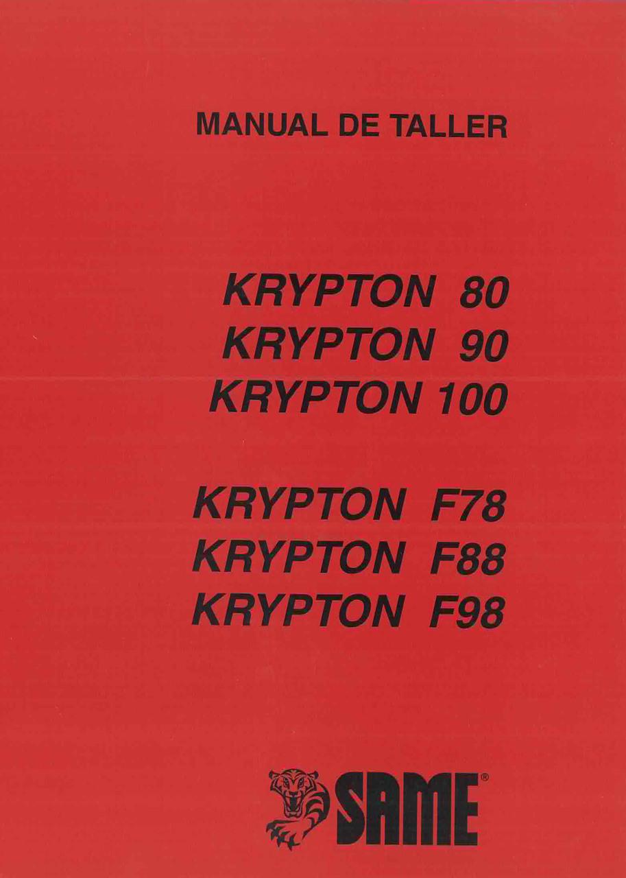 KRYPTON 80 - KRYPTON 90 - KRYPTON 100 - KRYPTON F 78 - KRYPTON F 88 - KRYPTON F 98 - Manual de taller