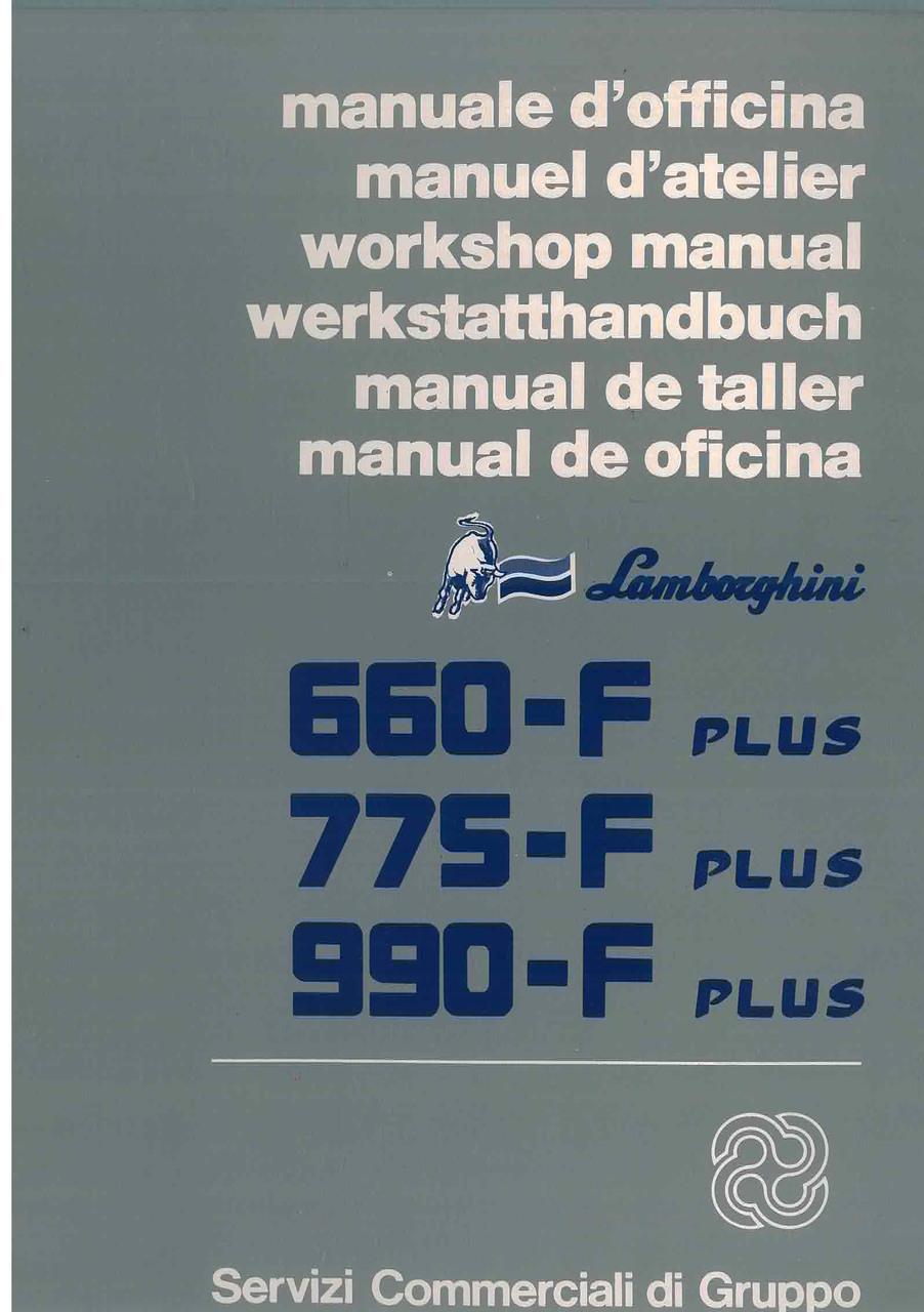 660 - 775 - 990 F PLUS - Manuel d'Atelier