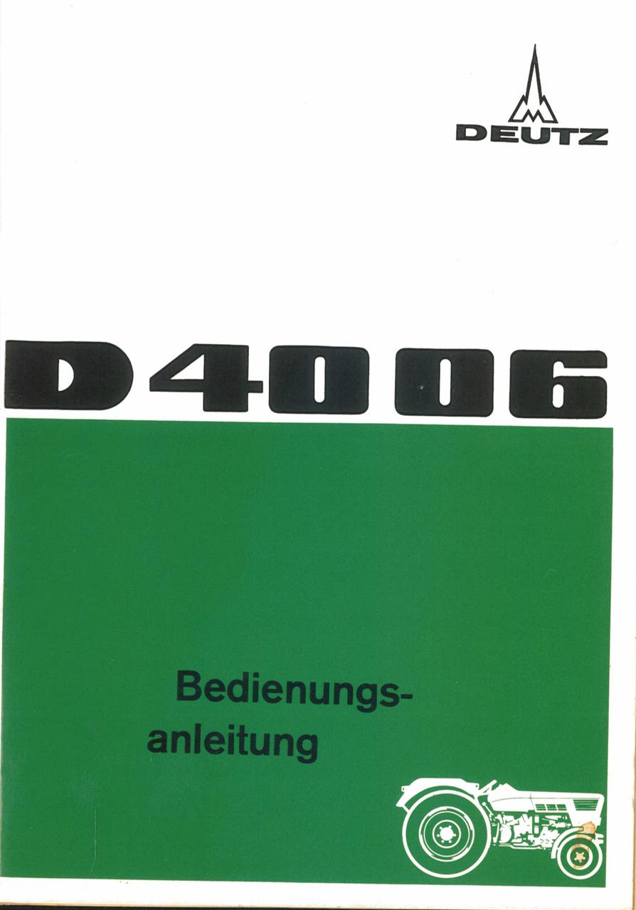 D 40 06 - Bedienungsanleitung